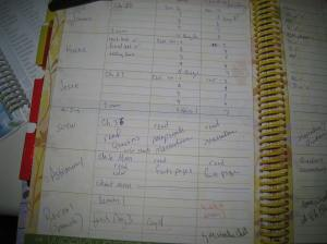 left side of planner