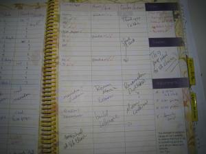 right side of planner