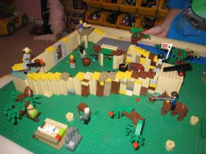 Lego Jamestown...burial of Gosnold