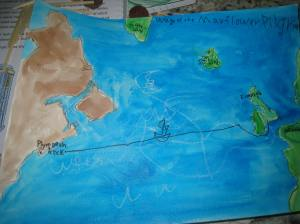 Middle Boy's Mayflower map