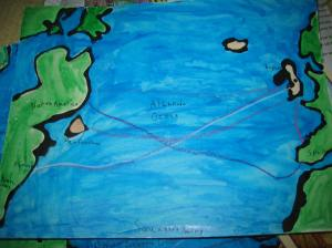 Sparkles map of Squanto's Journey