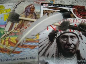 Talking Feather and books