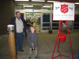 Middle Boy ringing the bell