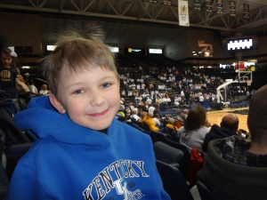Middle Boy at the Murray State game