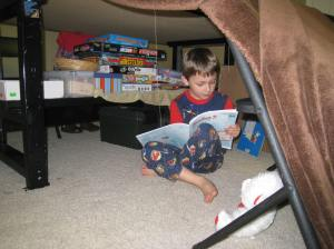 Middle Boy built another Fort Homeschool