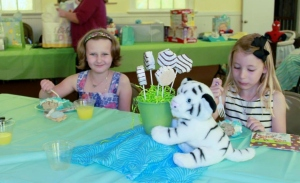 Sparkles and friend at baby shower