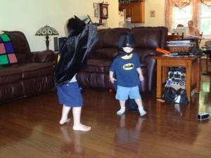 dueling Batmans