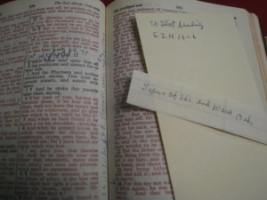 Grandma's Bible and notes