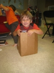 I told him he couldn't fit in the box...he proved me wrong