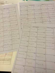 yearly overview sheets