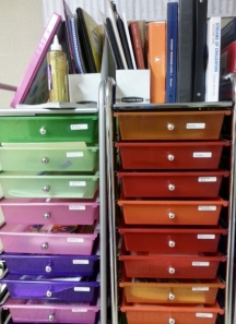 Oldest's and Sparkles' workboxes