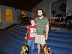 Oldest and his beloved guitar teach Bo