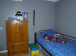 Littlest asleep in his newly painted room