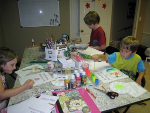 decorating binders and organizing for the new academic year