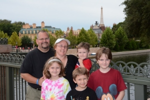 family picture at Epcot
