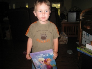 Littlest and his favorite book
