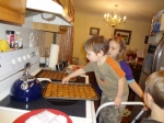 Littlest and Sparkles making Christmas goodies