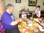 Daddy helping with cookies