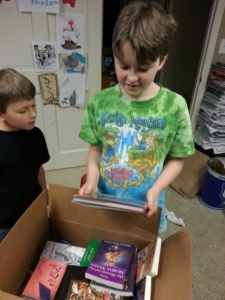 Box Day!! Always a happy day in a book loving homeschool!