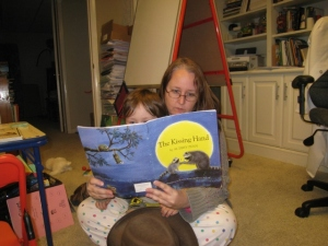 reading with Littlest