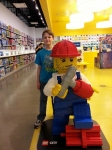 Oldest with Lego man