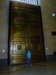 large doors at Parthenon