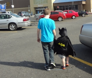 even Batman needs comfort sometimes...