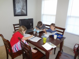 schooling in the apartment