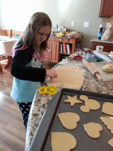 making cookies for Suzann