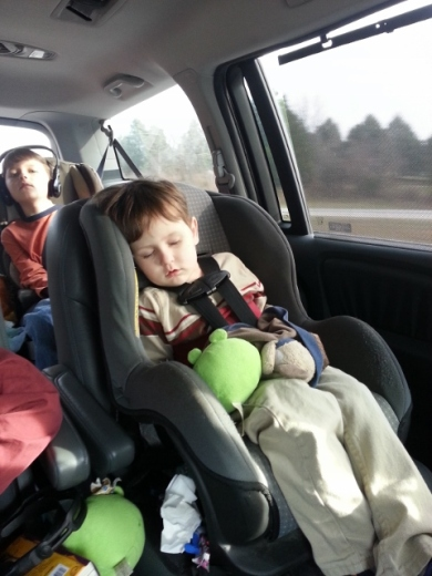 nap during Christmas day travels