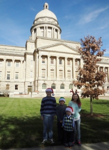 visiting the state capitol