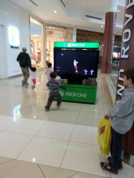 dancing at the mall