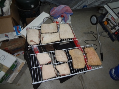Drying bacon before smoking
