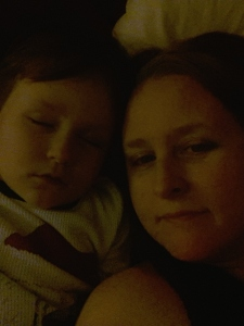snuggles with Littlest