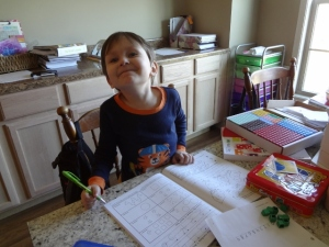 Littlest's school time