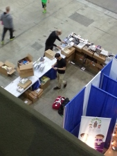 Russ and Josh setting up the booth