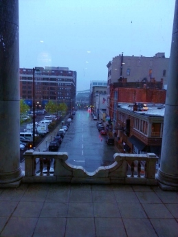 Cincinnati in the rain