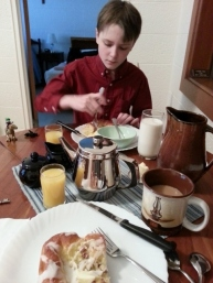 breakfast at the monastery