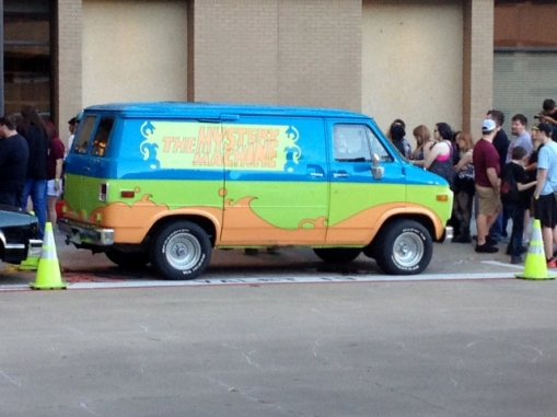 My husband snapped this pic of the Mystery Machine