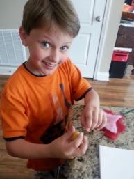 making felt flower