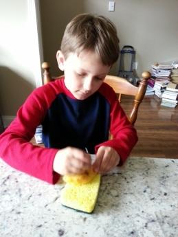 Middle Boy needle felting