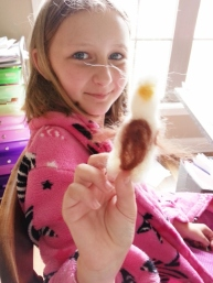 Sparkles and needle felting project
