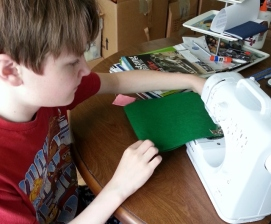 sewing wool hat