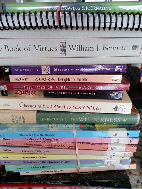 homeschool book sale finds