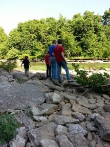 my fellas at the creek