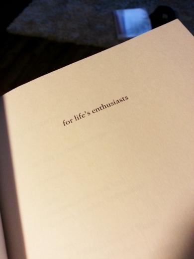 I like book dedications