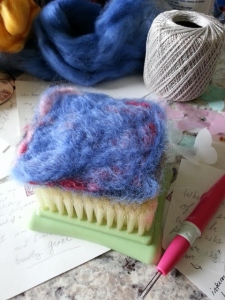 felting lots of layers