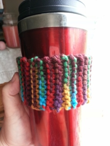 I knitted a coffee cozy