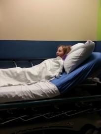 warm hospital blanket