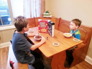 first day of school fun cereal
